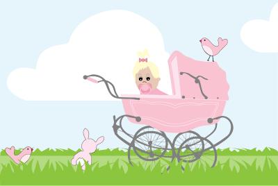 Baby-Girl-Vintage-Stroller
