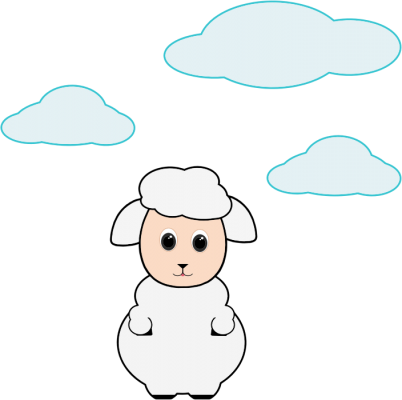 Cute-Lamb-In-The-Clouds